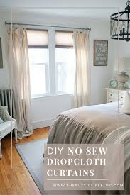 Diy Drop Cloth Curtains Diy No Sew Drop Cloth Curtains The Rustic Life