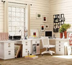 pottery barn office desk. Classic Office Room Design With Adorable Corner Pottery Barn Organization, Glossy White Wood Desk