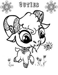 Cute Big Eyed Goat Coloring Pages Color Luna