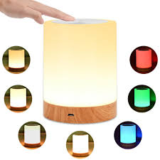 2019 Led Bedside Table Lamps Touch Lamp Night Light Rechargeable