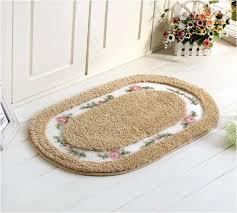 oval shape suede carpet living dining bedroom area rugs slip