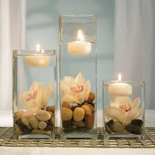 Simple Candle Decoration Wedding Decoration Charming Decorating Ideas Using Rounded White