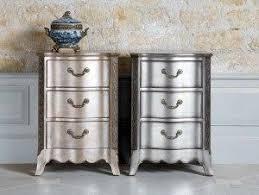 silver painted furniture. dresser in krylon brushed metallic spray paint silver painted furniture