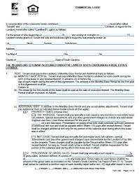 Standard Commercial Lease Agreement Standard Commercial Lease Agreement Form Standard Commercial Lease
