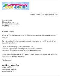 Formato De Cartas De Peticion Ejemplos De Carta Pedido