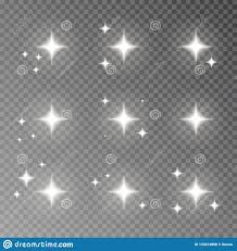 Camera Flash Light Effect Twinkle Sparkle Vector Isolated On Transparent Background