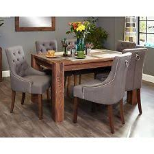 shiro solid dark wood furniture um dining table and six luxury chairs set