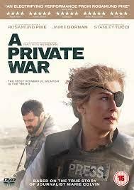 A Private War (DVD) Rosamund Pike, Jamie Dornan, Stanley Tucci, Tom  Hollander 5060105726576