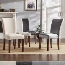 for cannes upholstered parson dining chair set of 2 by inspire q bold get at overstock your furniture outlet