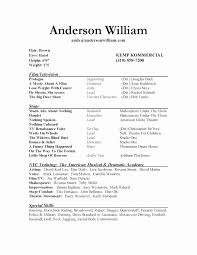Sample Actor Resume Sample Actor Resume Luxury Sample Theater Resume Download Sample 17