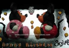 Coolest Mickey And Minnie Mouse Childrens Birthday Cake