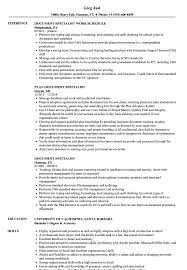 Document Specialist Job Description Resume Document Specialist Resume Samples Velvet Jobs 5