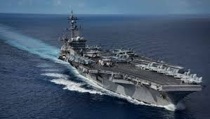 carrier ramp. the united states has sent its aircraft carrier uss carl vinson to area as ramp e