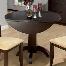 elegant round dining room sets with leaf and drop leaf circular dining table modern drop leaf