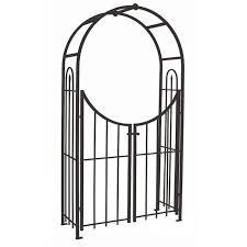 arched top garden arch with gate