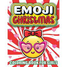 emoji christmas coloring book for s