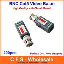 <b>200pcs</b> Coax CAT5 <b>Camera</b> CCTV Passive BNC Video Balun to