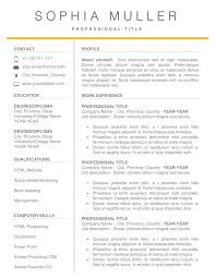 Easy Resume Template For Word Simple Classic Cv Template With
