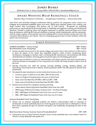 Assistant Coach Resume Samples Resume Coaching Resume Examples