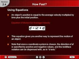 how fast 2 4 using equations