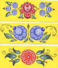 Элементы городецкой росписи раскраска