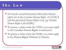 Canadian law and sexual harrassment definition