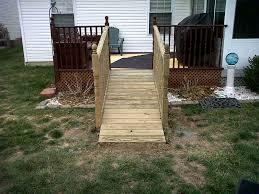 how to build an outdoor dog ramp over stairs designs