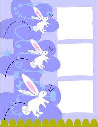 3 Bunny Easter Writing Paper