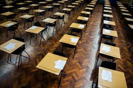 business schools see steady rate of plagiarized essays despite rows of empty desks ready for welsh gcse school pupils to sit their exams in a