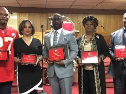 Kareem Hunt receives award from Ambassador Brothers of Lorain ...
