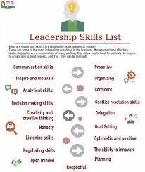 best leadership skills list ideas leadership good leadership skills list for developing leadership skills and abilities examples of leadership and management