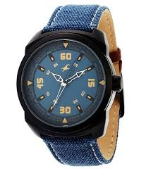 fastrack 9463al07 blue leather analog watch buy fastrack fastrack 9463al07 blue leather analog watch