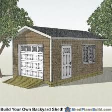 12x20 Storage Shed With Garage Door Plans