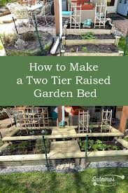 two tier raised garden bed