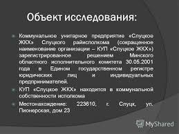 Презентация на тему Дипломная работа Налоговый учёт и ревизия  4 Объект