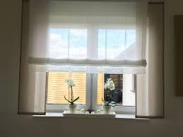 Taupe Mit Weiß Und Spitze Gardinen Store Große Fenster