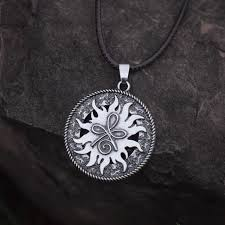 12pcs sanlan round celt symbol for strength pendant necklace meaning strength necklaces