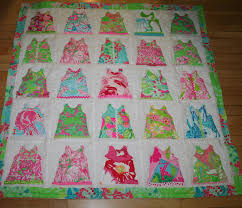 Baby Girl Shift Dress quilt made with Lilly Pulitzer fabric & 🔎zoom Adamdwight.com