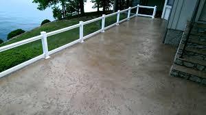Decorative Concrete Overlay Tuscan Slate Decorative Concrete Overlay Lakeside Patio Lake Ozark