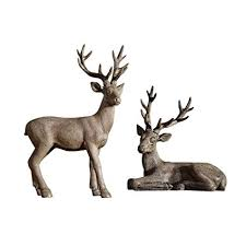 Figurines Nordic Retro Elk Set Simple Modern Home ... - Amazon.com