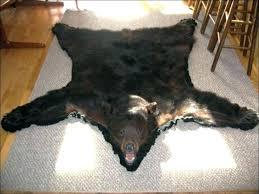 faux bear skin rug pottery bar animal