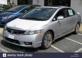 Honda Civic Si sedan 08 25 2009 Stock Photo, Royalty Free Image ...