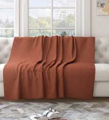 brown cotton solid 82x55 inch