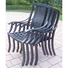 aluminum stackable patio chairs. Oakland Living Vanguard Aluminum Patio Dining Chair (4-pack) Aluminum Stackable Patio Chairs