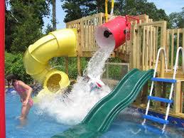 sportspower portable swimming pool slides outdoor battle ridge inflatable water slide comrhcom diy dad u stuff