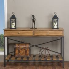 vintage console table. Baxton Studio Newcastle Industrial Rustic Wood And Metal Vintage Look Criss-cross Console (sofa Table
