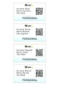 Name Tag Templates Professional Name Tag With Qr Code A