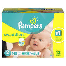 pampers swaddlers size 2 132 count pampers swaddlers diapers size 2 148 diapers walmart com