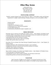 Resume Templates: Pediatric Nurse