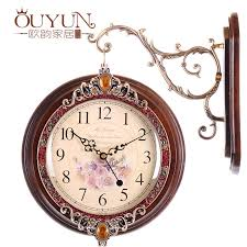 classic wooden wall clock vintage hanging double side with for classical clocks inspirations 10
